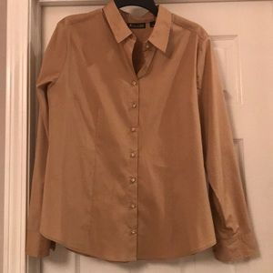 Tan Piped Madison Stretch Shirt